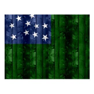 Bandera de madera de Vermont Postal