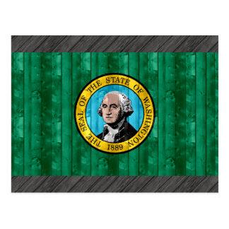 Bandera de madera de Washingtonian Postales