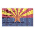 Bandera de madera del Arizonan Tarjetas De Visita