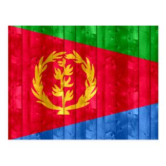 Bandera de madera del Eritrean Postales