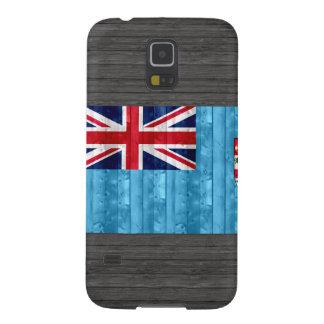 Bandera de madera del Fijian Funda De Galaxy S5