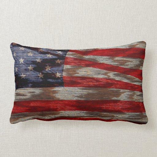 Bandera de madera del grano almohadas