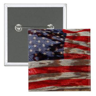 Bandera de madera del grano pin cuadrado