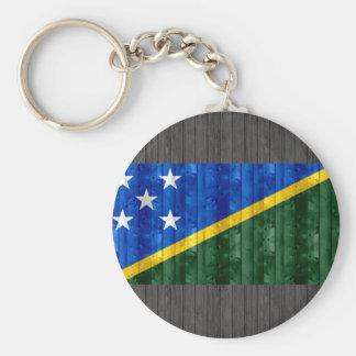 Bandera de madera del isleño de Solomon Llavero Personalizado