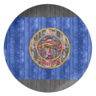 Bandera de madera del Minnesotan Plato