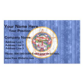 Bandera de madera del Minnesotan Tarjetas De Visita