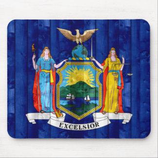 Bandera de madera del neoyorquino alfombrillas de raton