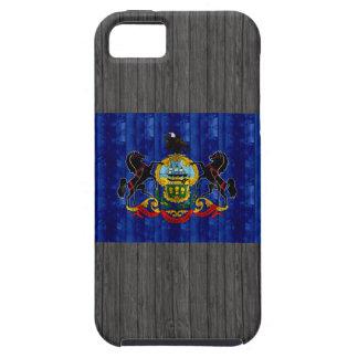 Bandera de madera del Pennsylvanian iPhone 5 Funda