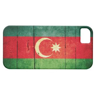 Bandera de madera rugosa de Azerbaijan iPhone 5 Case-Mate Carcasas