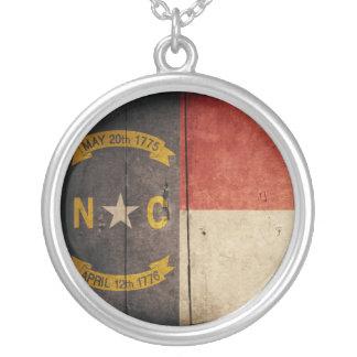 Bandera de madera rugosa de Carolina del Norte Colgante Personalizado
