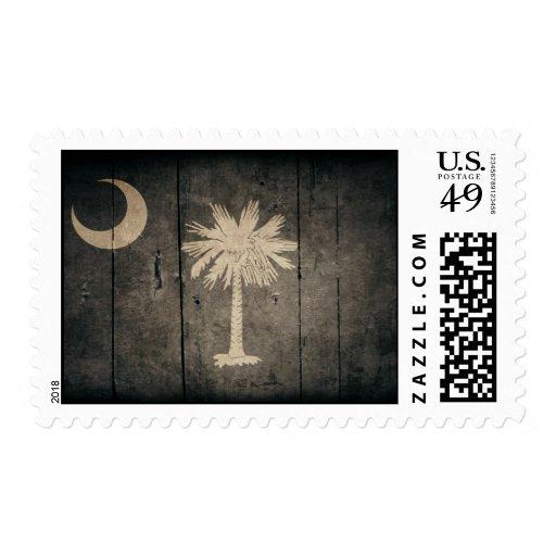Bandera de madera rugosa de Carolina del Sur