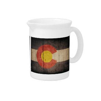 Bandera de madera rugosa de Colorado Jarron