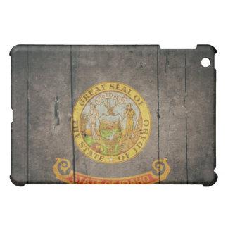 Bandera de madera rugosa de Idaho