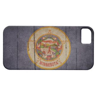 Bandera de madera rugosa de Minnesota iPhone 5 Funda