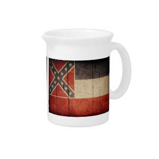 Bandera de madera rugosa de Mississippi Jarrón