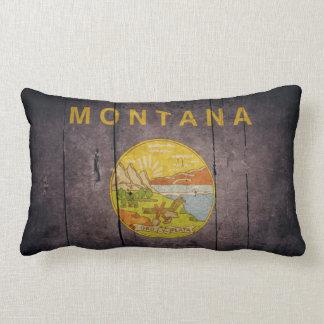 Bandera de madera rugosa de Montana Almohadas