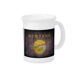 Bandera de madera rugosa de Montana Jarras Para Bebida