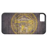 Bandera de madera rugosa de Nebraska iPhone 5 Case-Mate Protector