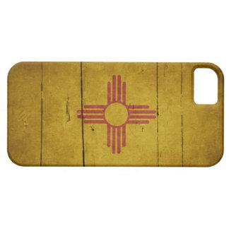 Bandera de madera rugosa de New México iPhone 5 Carcasas