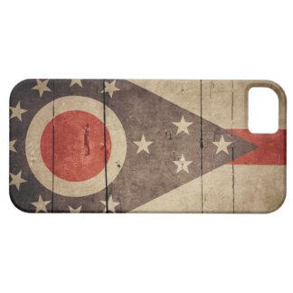 Bandera de madera rugosa de Ohio iPhone 5 Funda