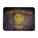 Bandera de madera rugosa de Oregon Imanes Flexibles