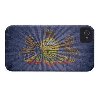 Bandera de madera rugosa de Pennsylvania Case-Mate iPhone 4 Protector