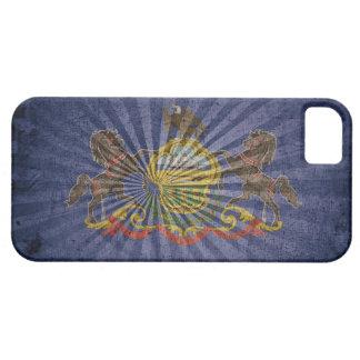 Bandera de madera rugosa de Pennsylvania iPhone 5 Case-Mate Funda