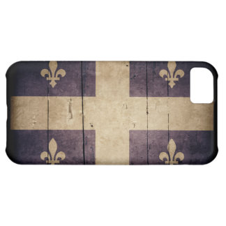 Bandera de madera rugosa de Quebec
