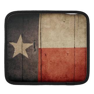 Bandera de madera rugosa de Tejas Mangas De iPad