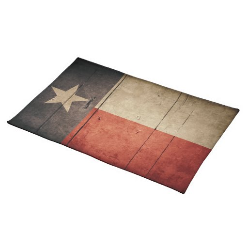 Bandera de madera rugosa de Tejas Mantel