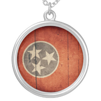 Bandera de madera rugosa de Tennessee Grimpola