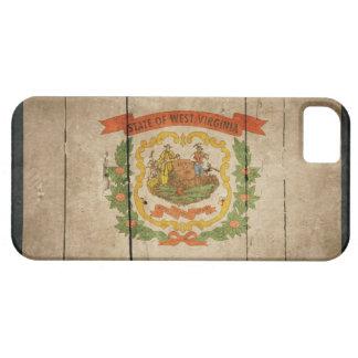 Bandera de madera rugosa de Virginia Occidental iPhone 5 Carcasa
