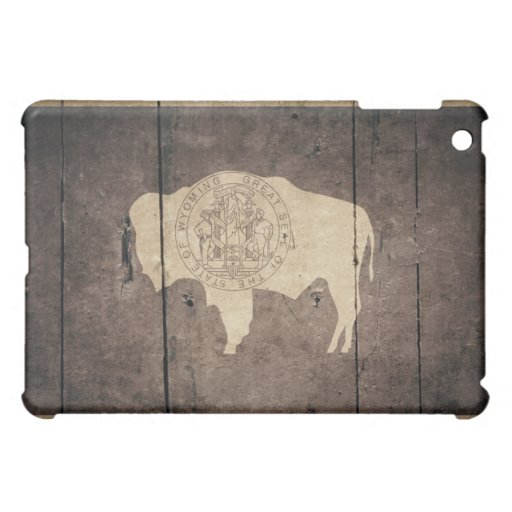 Bandera de madera rugosa de Wyoming