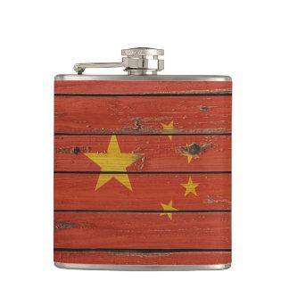 Bandera de madera rústica de China Petaca