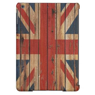 Bandera de madera rústica de Reino Unido Funda Para iPad Air