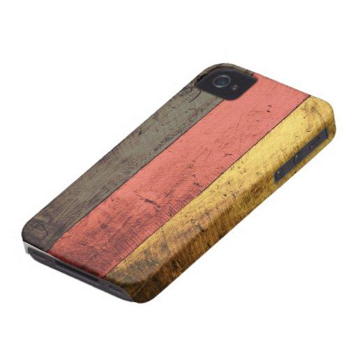Bandera de madera vieja de Alemania Case-Mate iPhone 4 Cárcasas
