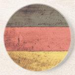 Bandera de madera vieja de Alemania Posavasos Diseño