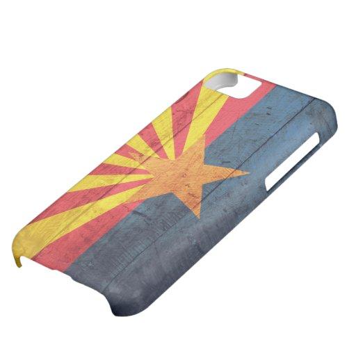 Bandera de madera vieja de Arizona Funda Para iPhone 5C