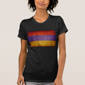 Bandera de madera vieja de Armenia Camiseta