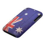 Bandera de madera vieja de Australia Case-Mate iPhone 3 Carcasas