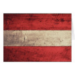 Bandera de madera vieja de Austria Felicitacion