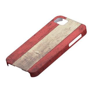 Bandera de madera vieja de Austria iPhone 5 Protector