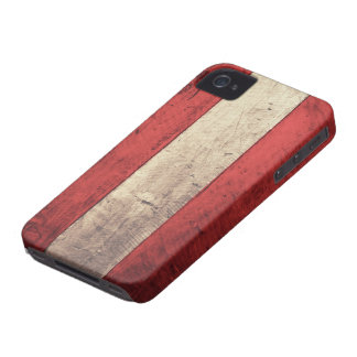 Bandera de madera vieja de Austria iPhone 4 Case-Mate Funda