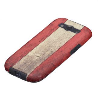 Bandera de madera vieja de Austria Galaxy S3 Protector