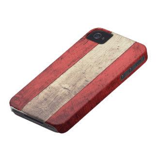 Bandera de madera vieja de Austria Case-Mate iPhone 4 Cárcasas