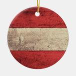 Bandera de madera vieja de Austria Ornato