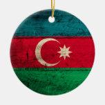Bandera de madera vieja de Azerbaijan Ornamento Para Reyes Magos