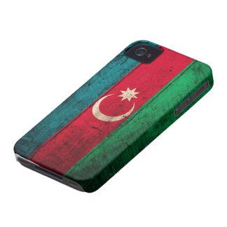 Bandera de madera vieja de Azerbaijan iPhone 4 Case-Mate Carcasa