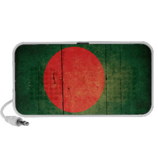 Bandera de madera vieja de Bangladesh Altavoces De Viaje