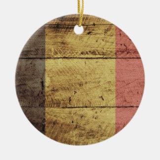Bandera de madera vieja de Bélgica Adorno De Reyes